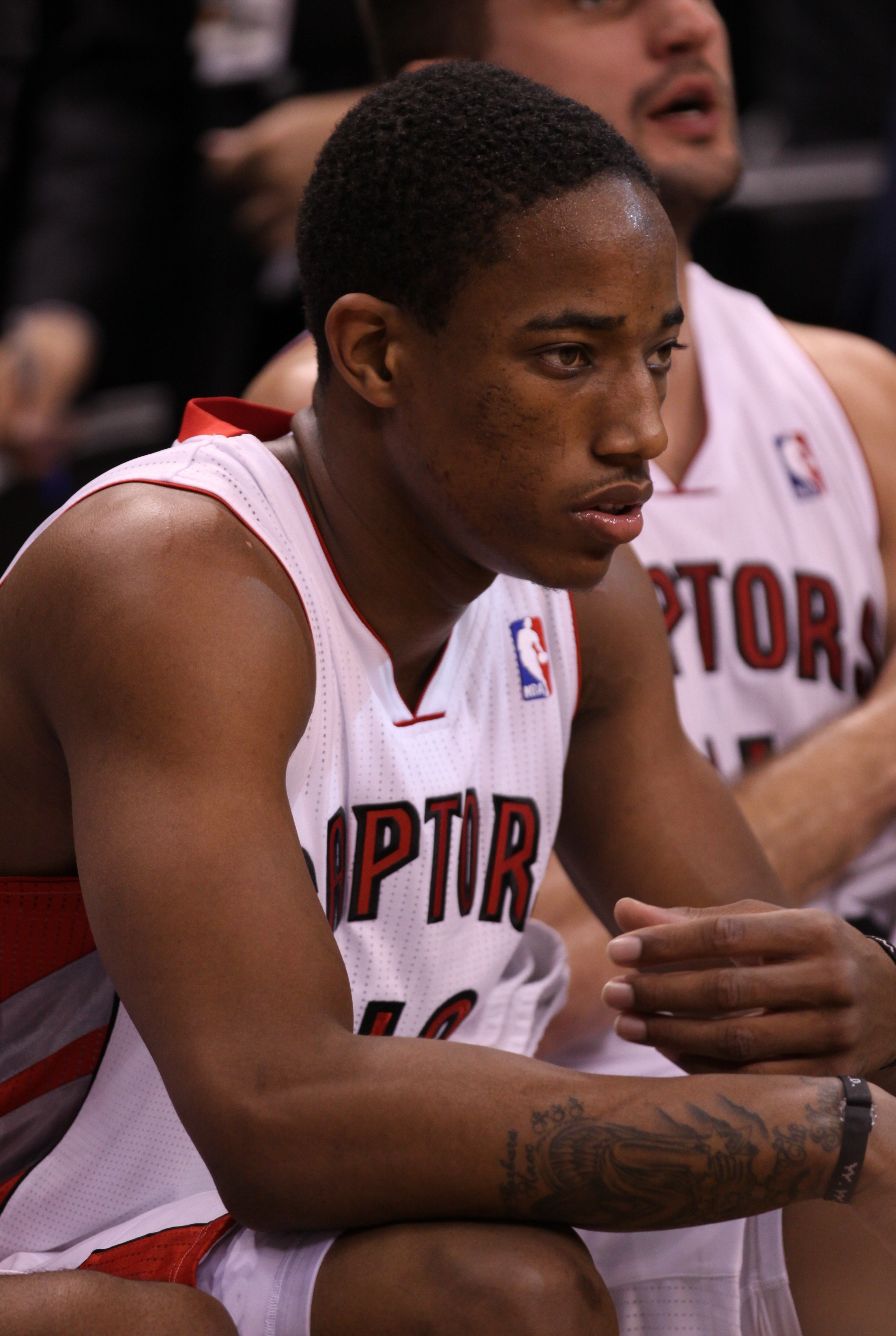 Toronto Raptors Guard DeMar DeRozan missed a game-tying attempt in the final seconds in a 94-92 loss to the Los Angeles Lakers on Sunday afternoon at the Air Canada Centre (JP Dhanoa)