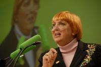 Chairwoman of the German Green Party, Claudia Roth