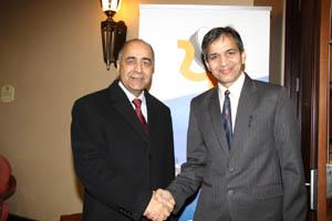 Mr Rajinder Saini with Hon Harinder Takhar