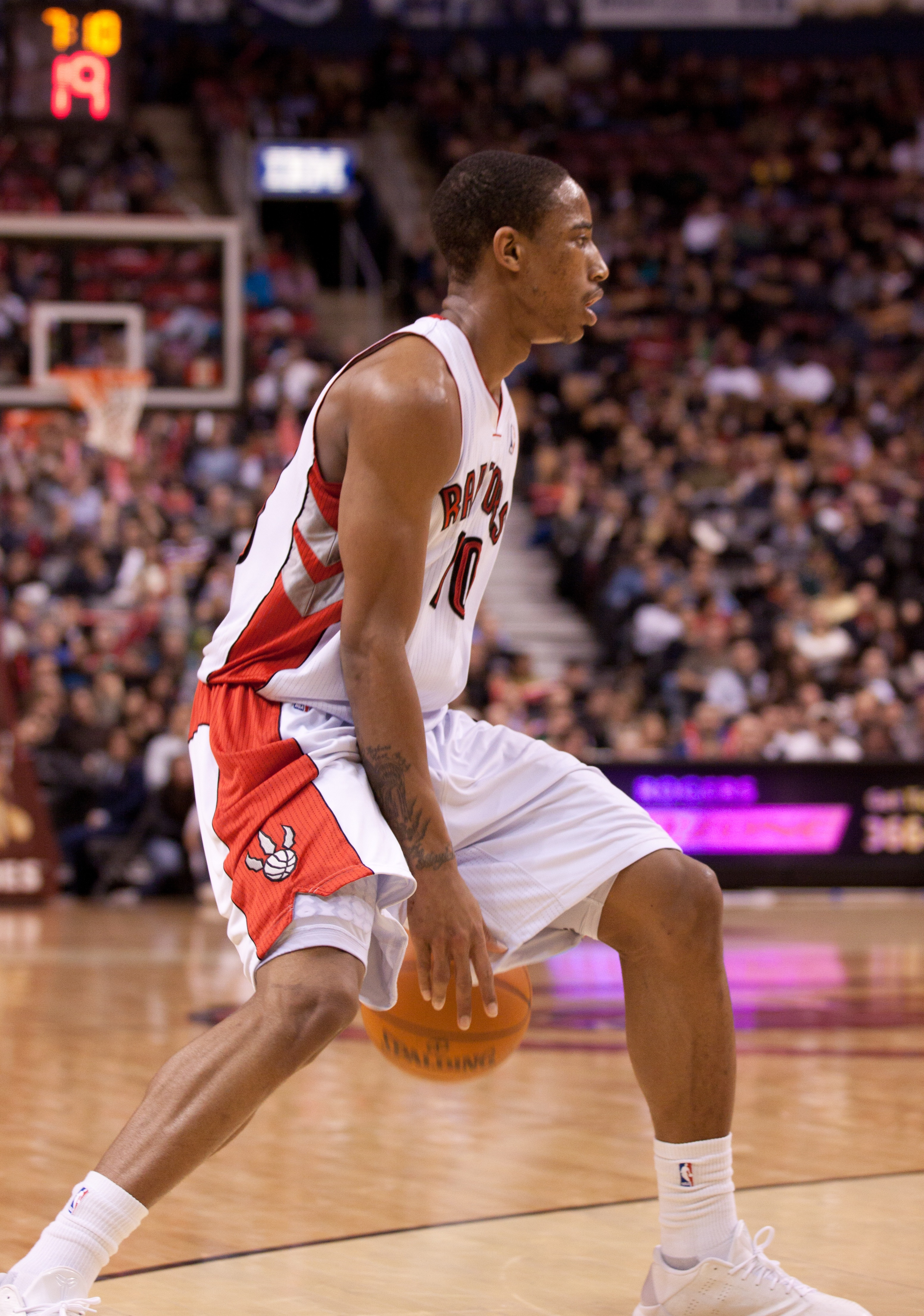 Point guard DeMar DeRozan had a terrific game for the Toronto Raptors scoring a team-high 28 points against the Miami Heat on Friday night. (JP Dhanoa)