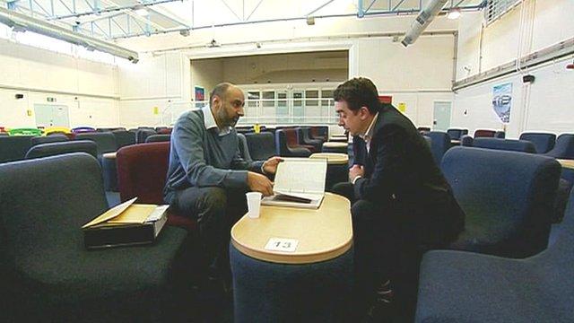 U.K. terrorism suspect, Babar Ahmad during his interview