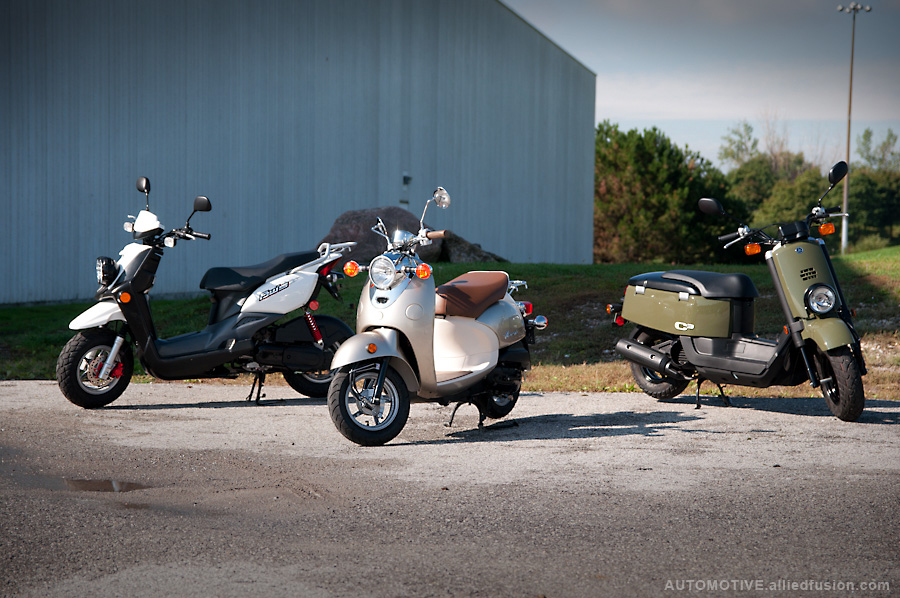 The 50cc scooters from Yamaha