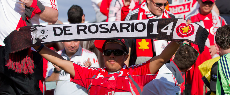Many TFC supporters came out to watch former captain De Rosario play against his old club. Fans still remember him fondly and wish he had never been traded away (JP Dhanoa)