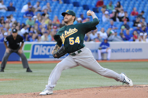 A's starting pitcher Travis Blackley shut down the Jays offence and only gave up a single run, a walk and five hits over seven innings of work. The only run he gave up was a solo home run to Travis Snider in the third inning (Karan Vyas)