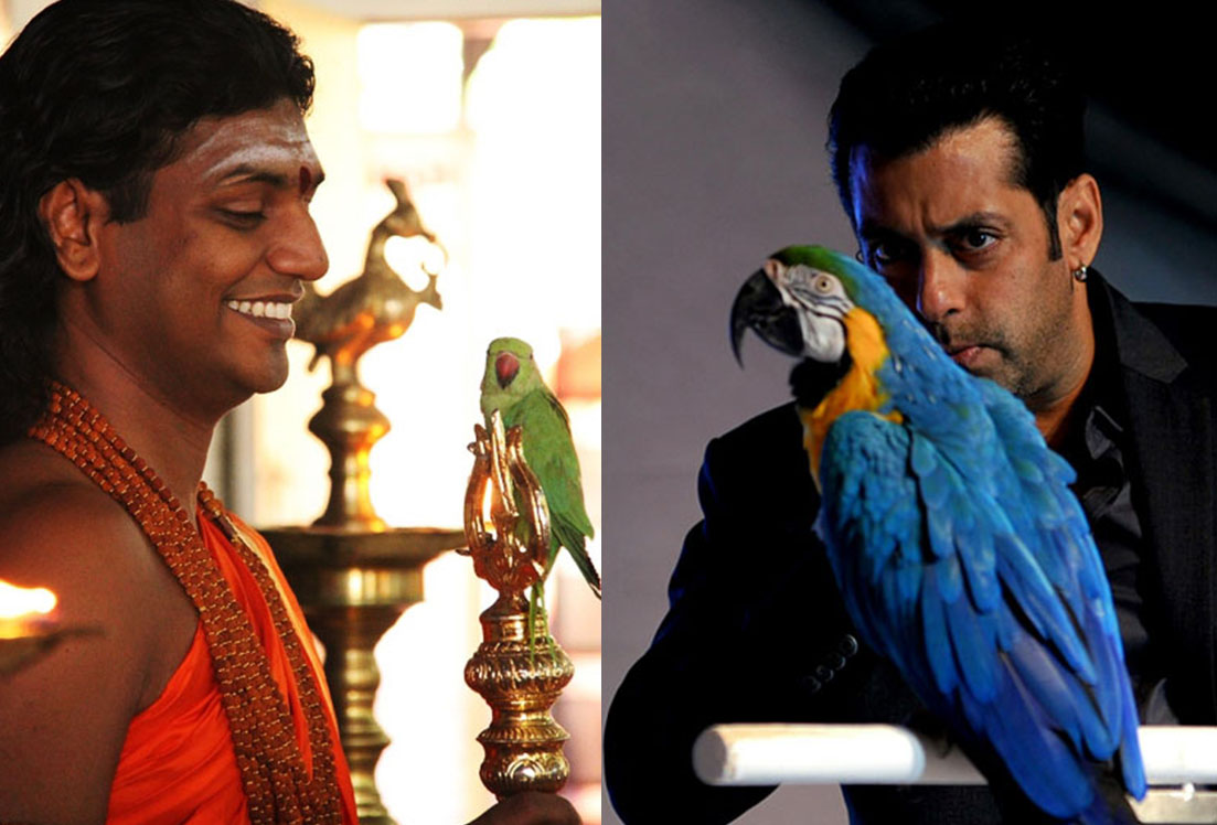 Swami Nithyananda and Salman Khan