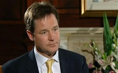 Deputy Prrime minister, Nick Clegg