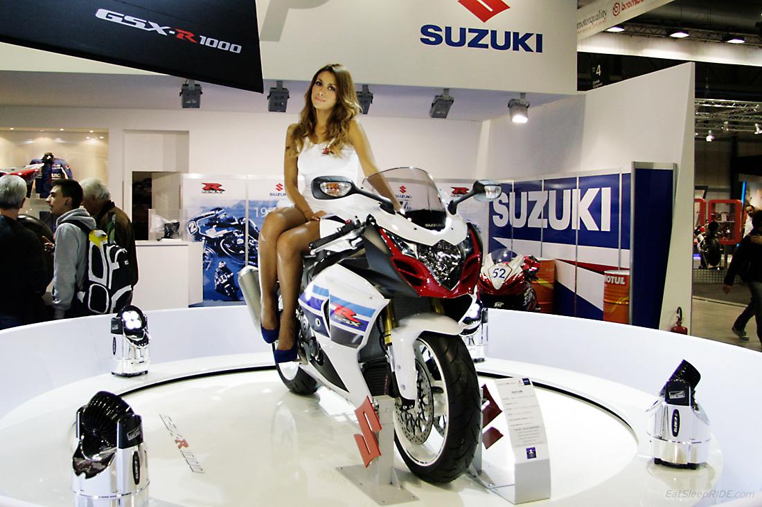 Suzuki GSX-R 1000 reworked for 2013 at the EICMA show floor in Milan. Photo: EatSleepRIDE.com