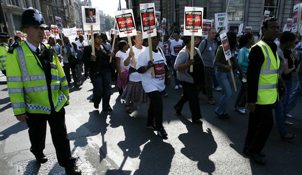 A rally against knife-crime