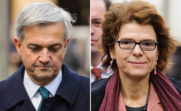 Former Energy Secretary, Chris Huhne and his ex wife, Vicky Pryce