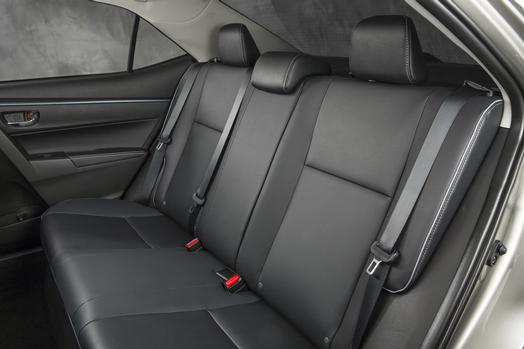 Spacious rear seating characterizes the new Corolla