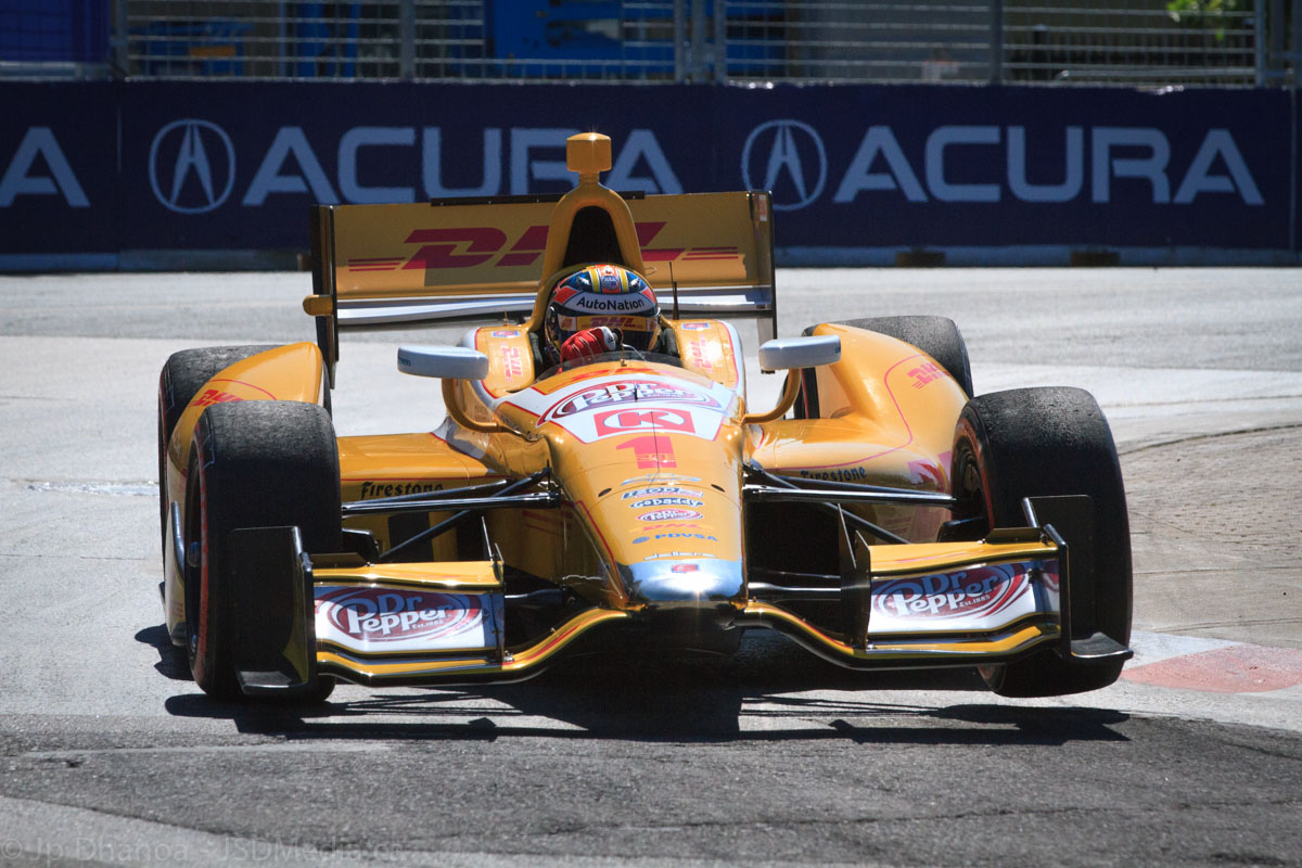 Ryan Hunter-Reay in the Andretti Autosport car