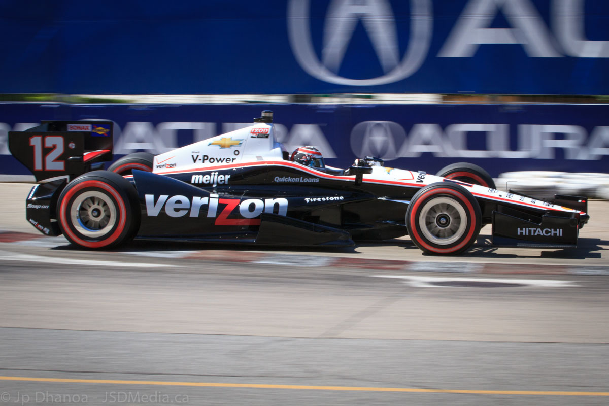 Will Power in the Team Penske car