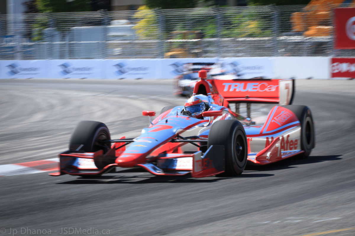 Sebastian Bourdais in the Dragon Racing car