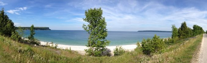 Lion's Head by motorcycle, in North Bruce Peninsula, ON