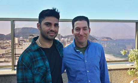Glenn Greenwald right and his partner David Miranda