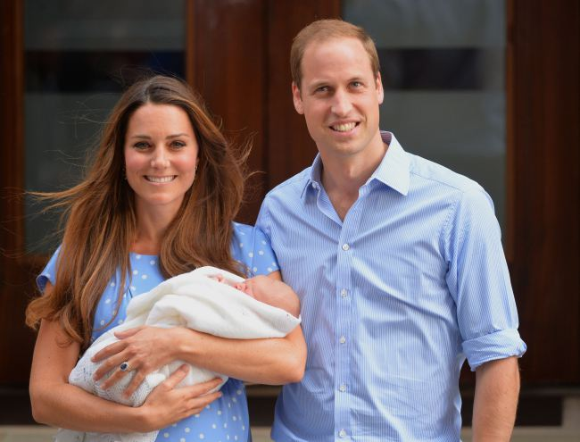Prince William with wife Kate Middleton and son Prince George
