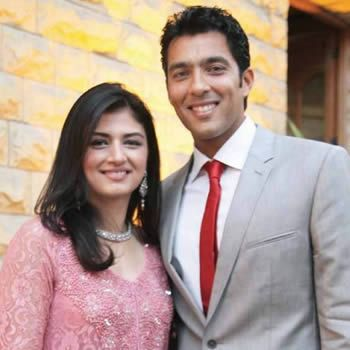 Aisam ul Haq with wife Faha Akmal