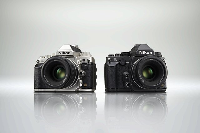 The Nikon Df is available in either a silver-black or all-black body