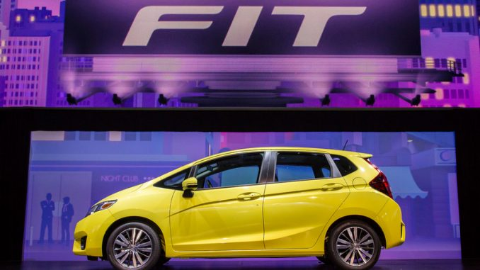 2015 Honda Fit is unveiled at the North American International Auto Show in Detroit, MI