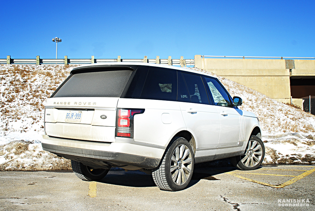 Even covered in suburban road grime, the all-new Range Rover is a looker