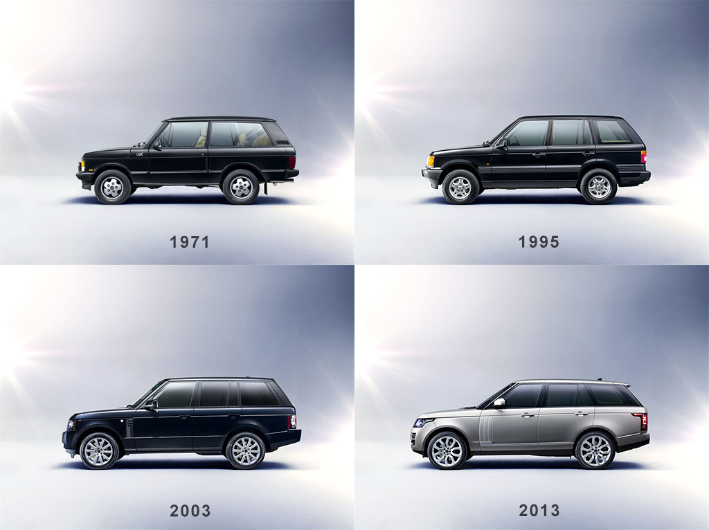 Four generations of Range Rover