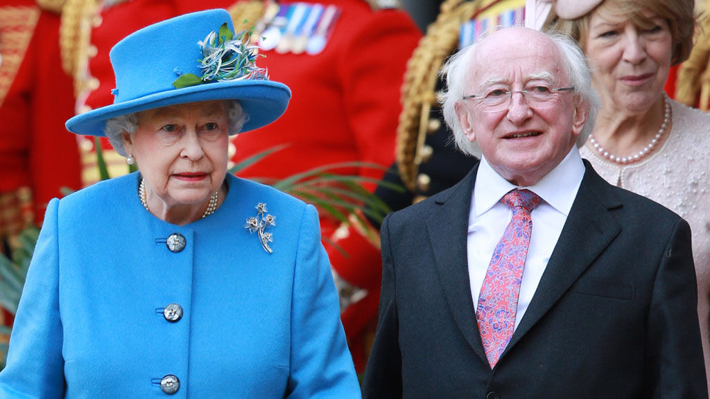 The Queen with Irish President Michael D Higgins