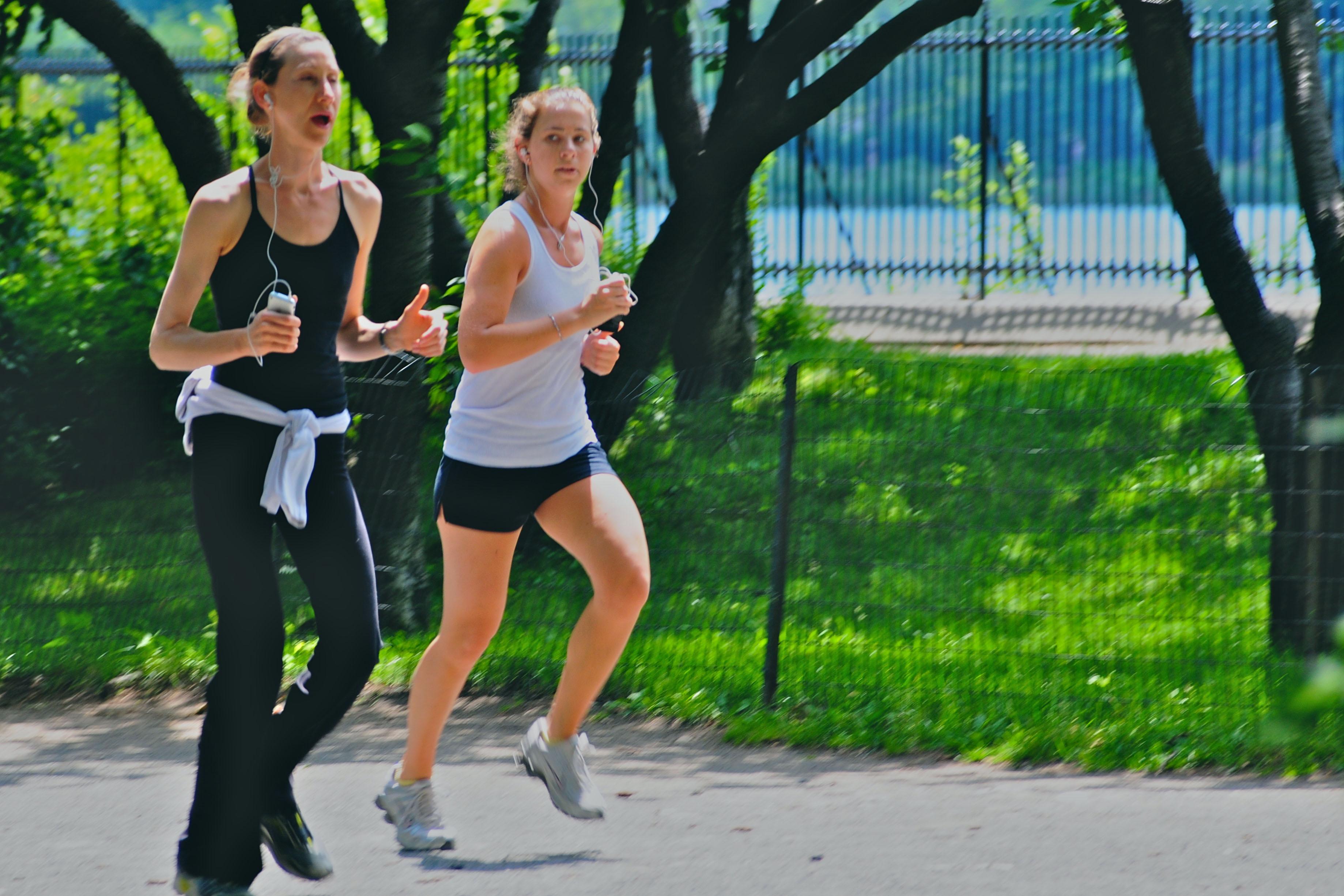 Jogging ladies at day