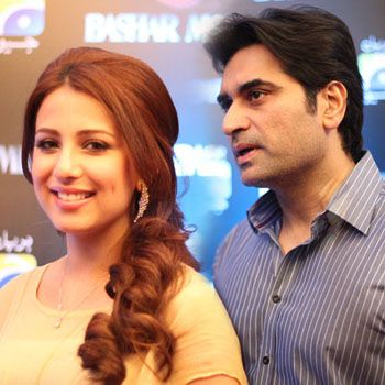 Humayun Saeed with Ushna Shah