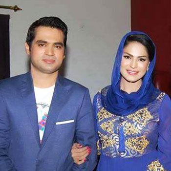Veena Malik with husband