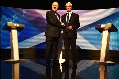 Alistair Darling right and Alex Salmond