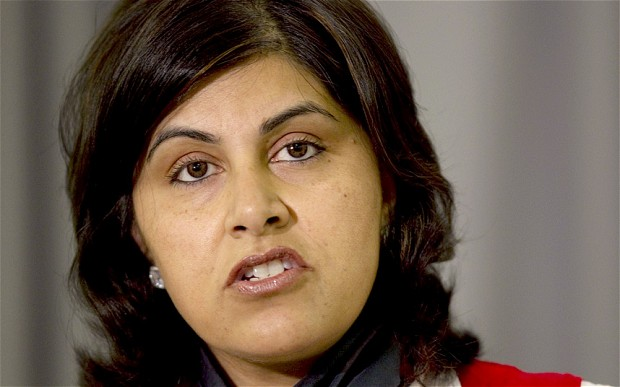 The Foreign Office minister Baroness Warsi
