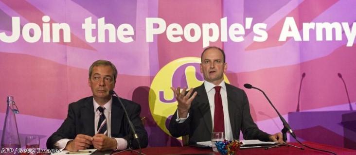UKIP leader Nigel Farage and Douglas Carswell