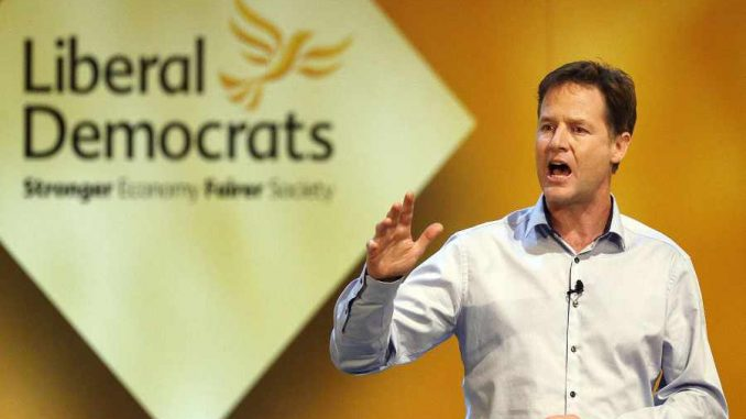 Deputy PM and the Liberal Democrats leader Nick Clegg