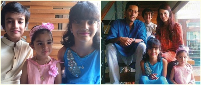 Nadia Hussain and Atif Khan with family