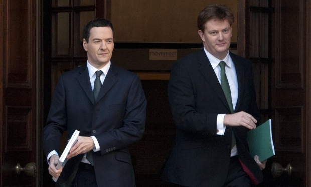 Danny Alexander (right) and the Chancellor George Osborne