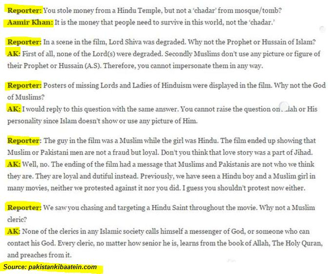 Aamir khan's fake interview