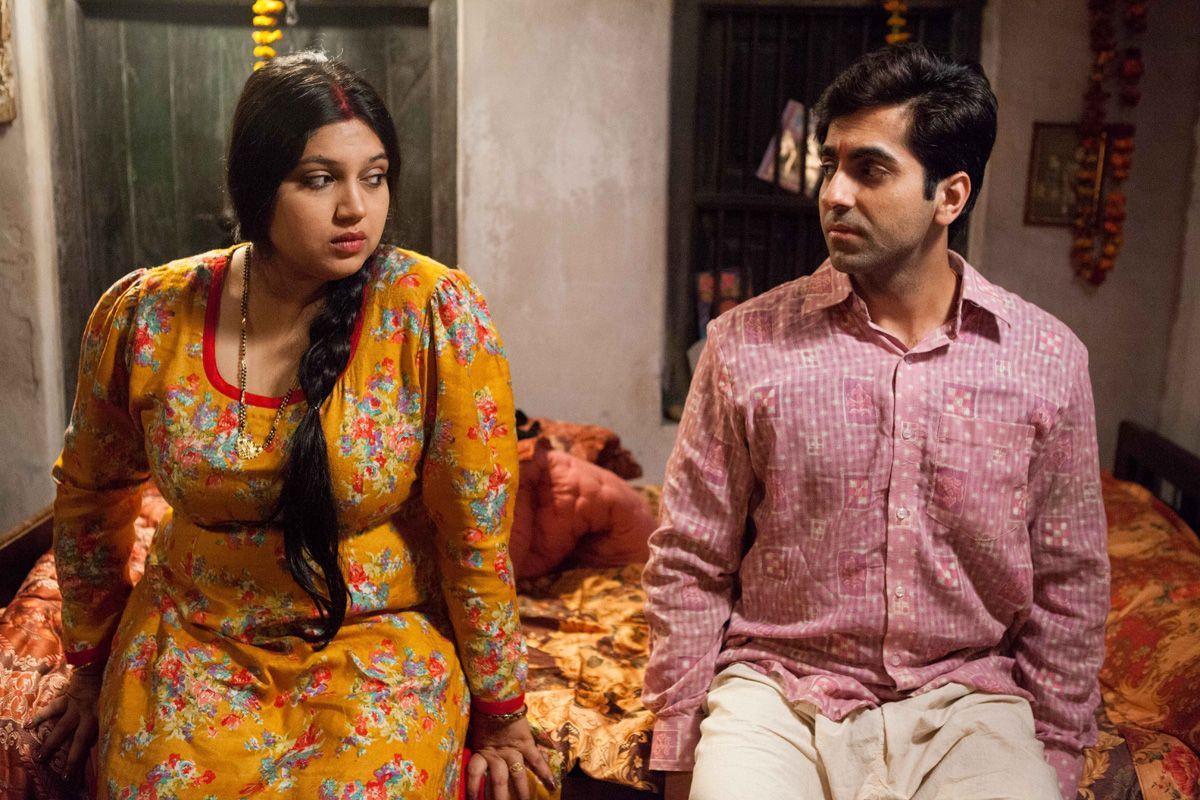 Bhumi Pednekar and Ayushmann Khurrana in Dum Laga Ke Haisha.