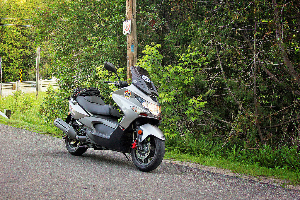 Chris' ride for over 18 hours was this last generation Xciting 500. Kymco assures us the only change between the two generations is headlamp design.
