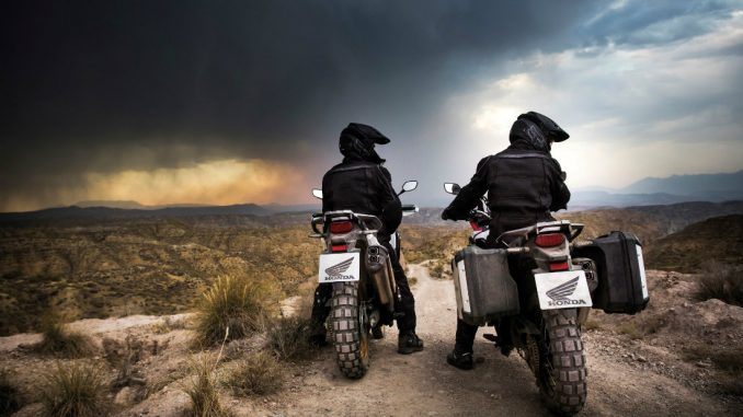 2016 Honda Africa Twin. European model shown here with optional off-road tires.