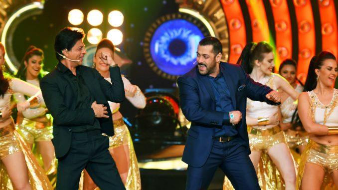Salman Khan with Shah Rukh Khan on Bigg Boss