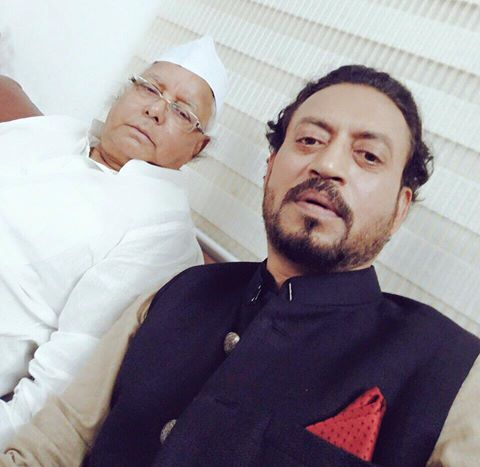 Irrfan Khan with Lalu Prasad Yadav