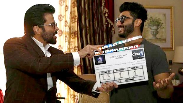 Watch Anil Kapoor joins Arjun for the mahurat of Mubarakan
