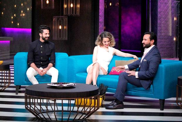 Koffee with Karan 5 Kangna Ranaut calls out Karan's nepotism; Saif Ali Khan and Shahid Kapoor's drama over Kareena Kapoor Khan