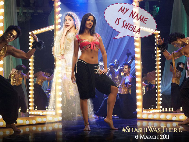 Anushka Sharma aka Shashi on the sets of Katrina Kaif's Sheila Ki Jawani