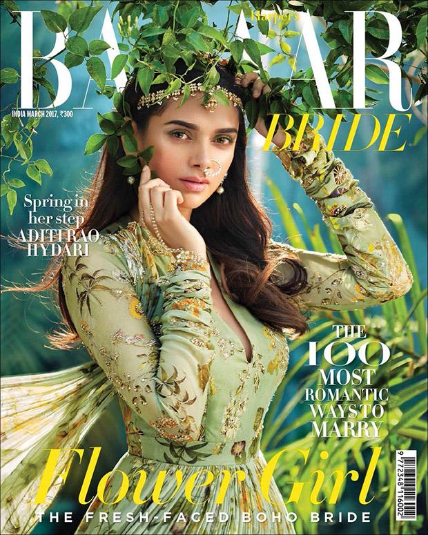 Check out Aditi Rao Hydari is spring-ready on the cover of Harper's Bazaar Bride