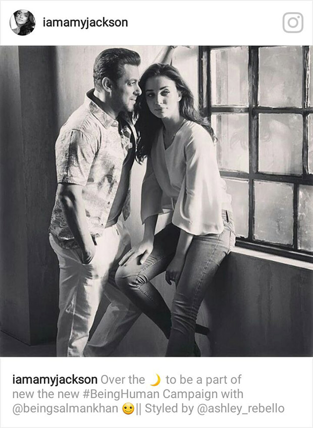 Check out Salman Khan and Amy Jackson in the new 'Being Human' campaign