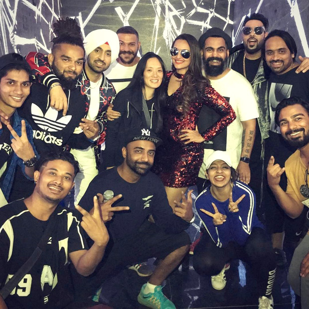 Check out Sonakshi Sinha shoots a song 'MYL' for Noor with Diljit Dosanjh and Badshah-2