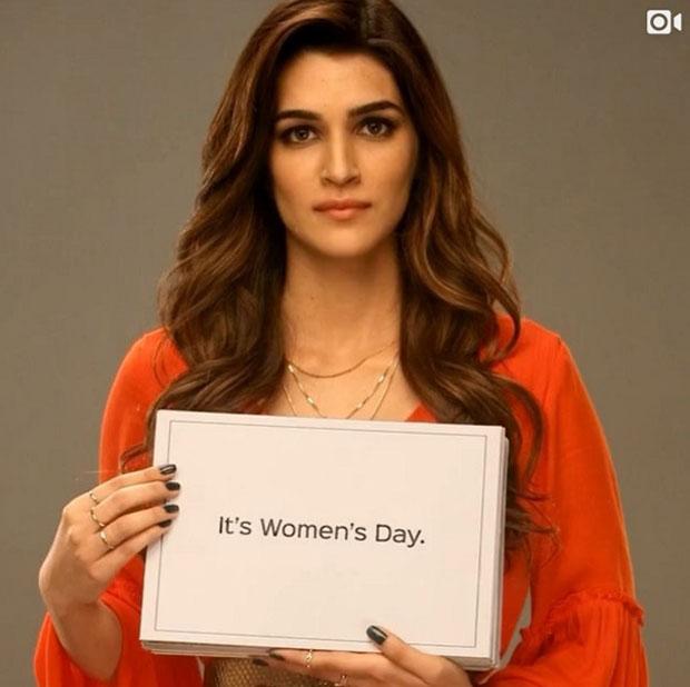 Kriti Sanon is done talking about International Women's Day