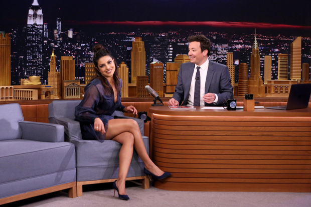 Priyanka Chopra makes Jimmy Fallon drink 'thandai' on the occasion of Holi-1