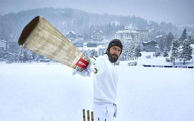 Ranveer Singh plays intense game of cricket in snow for 'Dugna Lagaan' in Switzerland